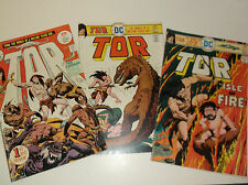 Tor #1, 4, 5 The World of a Million Years Ago Joe Kubert DC Comics VG/FN