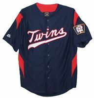 MINNESOTA TWINS MAJESTIC MLB COOPERSTOWN THROWBACK JERSEY Mens M