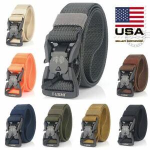 8 Colors Magnetic Tactical Belt Quick Release Buckle Nylon Fashion Adjustable