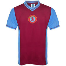 Aston Villa FC Official Football Gift Mens 1982 Retro Home Kit Shirt Claret