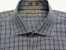 PETER MILLAR Plaid Check Woven Long Sleeve Shirt L