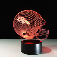 Denver Broncos Collectible NFL Superbowl Light Lamp Peyton Manning Home Decor