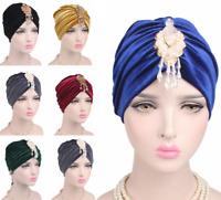 Women Muslim Cancer Chemo Hat Beanie Scarf Turban Head Wrap Caps Headwaer Hats