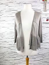 M&S INDIGO Beige Linen Cardigan Lightweight Cropped Size 16 Summer Casual