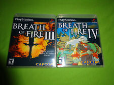 Empty Custom Cases -  BREATH OF FIRE III & IV Sony PlayStation 1 PS1 PS2 PS3