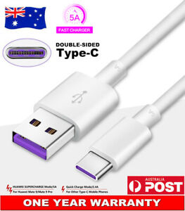 Original USB Type-C 5A Charger Adapter Cable Data Cord For Huawei P30 Pro P20 AU