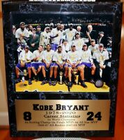 Kobe Bryant LA Los Angeles Lakers NBA RARE TEAM CHAMPIONSHIP 8x10 PHOTO frame