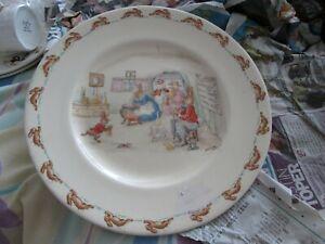 Royal Doulton Bunnykins Moppet Tea room signed Barbara Vernon plate 22cm rare