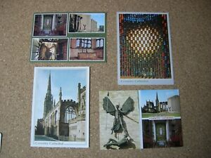 COVENTRY CATHEDRAL POSTCARDS x 4.