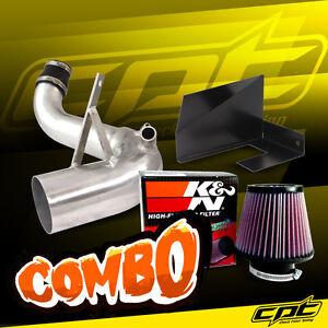 For 11-14 Sonata Turbo 2.0L 4cyl Polish Cold Air Intake + K&N Air Filter