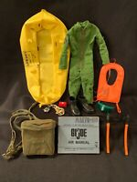 Vintage 1960s GI Joe Original Scramble Action Pilot Equipment Flight Suit Manual