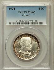1922 50C Grant No Star MS66 PCGS Nice fresh coin. Premium Quality Gem. (963)