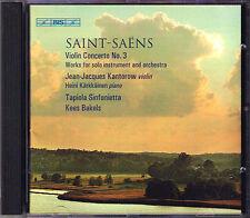 Jean-Jacques KANTOROW: SAINT-SAENS Violin Concerto 3 Caprice BIS CD Kees Bakels