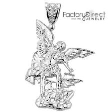 St. Michael vs Devil Pendant Sterling Silver ( Large )
