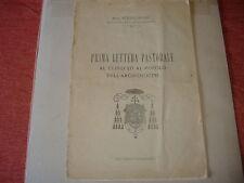 1919 MONS. ETTORE FRONZI 1° LETTERA PASTORALE POPOLO E CLERO DI CAMERINO CAGLI