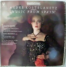 KOSTELANETZ ANDRE MARALIN NISKA MUSIC FROM SPAIN LP COLUMBIA QUADRAPHONIC 1974