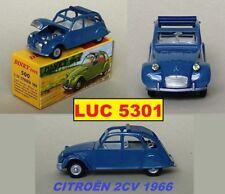CITROËN 2CV 1966 BLEUE  #500 N°6 SERIE DES OUVRANTS PAR DINKY TOYS / ATLAS