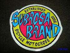 "1 Authentic Subrosa BMX Bici ""Subrosa Brand"" Adesivo/Adesivo Aufkleber #46"