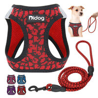 Breathable Air Mesh Small Dog Harness and Lead Pet Puppy Cat Walking Vest XXS-M