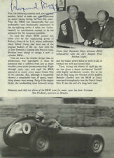 Raymond Mays BRM Portrait Signed Book Page 1960