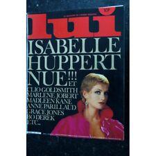LUI 215 1981 DECEMBRE COVER ISABELLE HUPPERT MARLENE JOBERT ENTIEREMENT NUES ASL