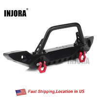 Metal Front Bumper & Light for 1/10 RC Traxxas TRX4 Axial SCX10 & SCX10 II 90046