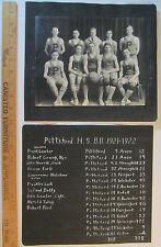 SUPER 2 Photos & Score Tally History - Boys Basketball Team Pittsford NY 1921