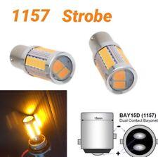 Strobe Brake Light 1157 2057 3496 7528 BAY15D 33 SMD LED Amber M1 For GM MAR