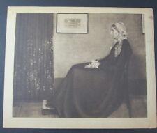 Whistlers Mother Antique Art Print 9x8 JAMES ABBOTT MCNEILL WHISTLER