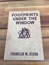 Hardy Boys Footprints Under the Window by Franklin W Dixon (1933 Hardcover) Good