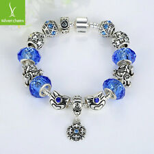 20cm European Silver Charms Bracelet For Women Christmas Fashion Jewelry