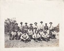 Original WWI Photo PHOENIX Arizona POLICE RESERVES w/ RIFLES 1917 Training 276