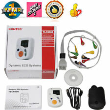 CE 12 Channel ECG EKG Holter,48 Hours heart rate Monitoring,OLED,PC USB Software