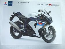Moto Suzuki gsx-r 1000 gsx pubblicita brochure depliant motorcycles prospect