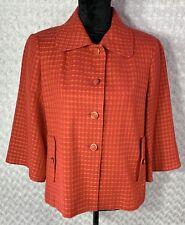 BANANA REPUBLIC Womens Blazer Sz MEDIUM 8 Pink Orange Dress Career Coat Jacket