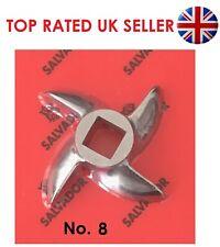 Meat Mincer Blade Grinder Spare Knife Curved Sizes No 8 Stainless Steel Salvador