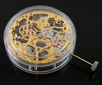 Manual Winding mechanical Gold Full Skeleton Hand Winding 6497 watch movement