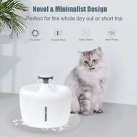Cat Water Fountain Cat Water Dispenser Automatic Pet Drinking Fountain 84oz/2.5L