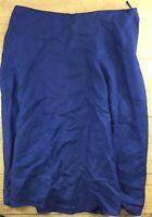 Appraisal Plus Women's Skirt Size 22 Blue A-Line Dressy Long