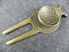 Pitchgabel BALL MARKER In Ottone GOLF DESIGN U.S.A. Patent #525 Patent 4627621