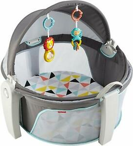 Fisher-Price On-the-Go Baby Dome, Grey/Blue/Yellow/White DRF13 Windmill