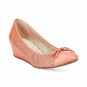 COLE HAAN TALI GRAND  LACE WDG40 CORAL HAZE WOMENS WEDGE SHOES MULTISIZES AS