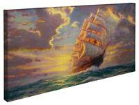 Thomas Kinkade Courageous Voyage 16 x 31 Gallery Wrapped Canvas