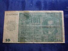 10 Reichsmark Österreich1945 f. Graz, Linz S., sog. Eigruber – Schein   W18/700