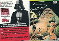 Star Wars Galaxy Series 1 - Promo Chase Trading Card - Jabba - NM