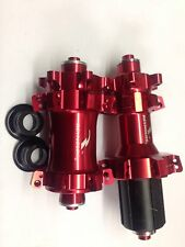 Reynolds Cycling Alloy 32H Red Anoodised Mountain Bike Hubs 4 Wheels Pair MTB