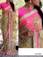 Bollywood Indian Ethnic Saree Pakistani Designer Sari Mariage Party Wear Saree
