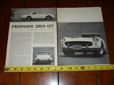1960 FERRARI 250 GT ORIGINAL ARTICLE