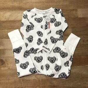 Bonds Koala Oh Na Na White Wondersuit Size 2