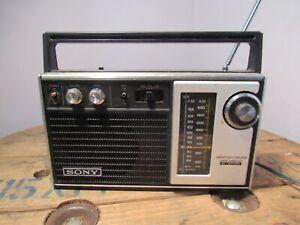 Vintage Sony Super Sensitive Weather AM FM Portable Radio. TFM 7350W.